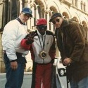 RT @SteevMo: 3 dudes. @MCSerch, @FlavorFlav and Pr…